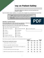 Hospital Survey on Patient Safety