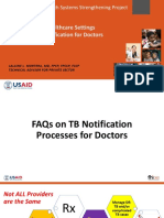 FAQS on TB Notification Process for Doctors