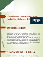 Aspectos Generales Sobre La Biblia