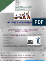 Manipulación Manual de Cargas.