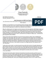 PR 09 19 2019 Big 3 Joint Statement on LBB Fiscal Update