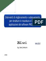 Interventi di miglioramento e adeguamento per strutture in muratura e c.a.