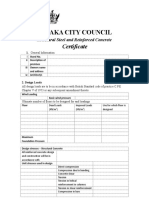 Structural Certificate template
