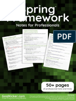 Spring Framework Notes for Professionals Book