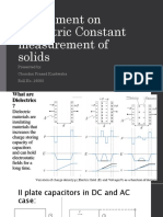 Experiment on Dielectric Constant Measurement of Solidssemicomp