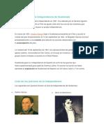 Historia Del Acta de Independencia de Guatemala