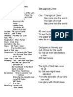ME Songlist & Light of Christ (for Fr. Naring)