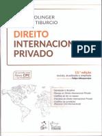 Direito Internacional Privado - Sumário