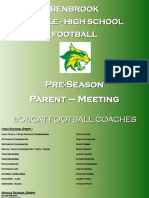 Benbrook-football Parent Meeting Powerpoint 2018