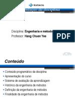 4- Aula 160920- Engenharia de Mtodos