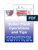 Boiler plant operatios and tips