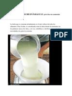 Consumo de Leche en Paraguay
