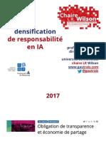 Densification de la responsabilite en IA