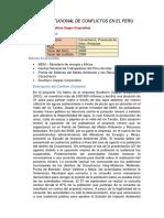 CONFLICTOS AMBIENTALES PERU