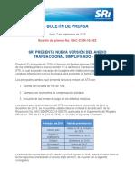 42 SRI PRESENTA NUEVA VERSIO´N DEL ANEXO TRANSACCIONAL SIMPLIFICADO - ATS