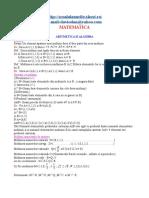 MATEMATICA Sinteza Algebra Si Geometrie
