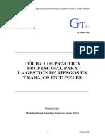 Cód.gestión de Riesgos en Trabajos en Túneles-GT-2006