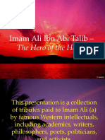 Imam Ali Ibn Abi Talib - Tribute by Western Intellectuals
