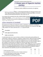ASSQ Cuestionario de Cribaje Para El Espectro Autista