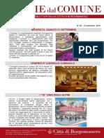 Notizie Dal Comune di Borgomanero del 20-09-2019