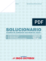 Solucionario San Marcos 2020-i