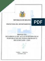 Proyecto Desarrollo de Aguas Sudterranias Perforacion de Pozos