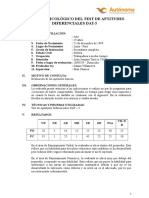 Informe Psicológico de Dat - 5 (Ana)