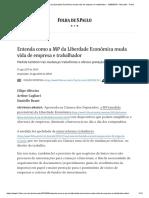 Entenda Como a MP Da Liberdade Econômica Muda Vida de Empresa e Trabalhador - 15-08-2019 - Mercado - Folha