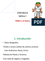 Tema 2. El Teatro Latino