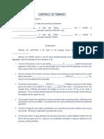 Contract of Tenancy