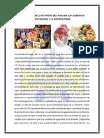 QUIMICA Y ANALISIS Determinacion Del Contenido de Proteina