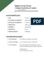 Curriculum Vitae Sara Pastor Alvarez