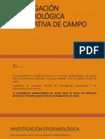 14, Investigación Epidemiológica Explorativa de Campo