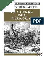 Juan Alberdi - la guerra del Paraguay.epub