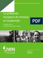 Población receptora de remesas en Guatemala