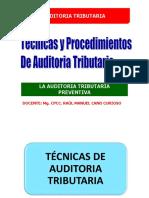 5. Tecnicas y Procedimientos de Auditoria Tributaria