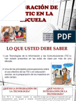 Integracion de Las Tics Al Curriculo Escolar