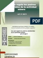 Ley N 28271 Ley Que Regula Los Pasivos Ambientales de La Actividad Minera
