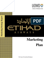Etihad Airways - Marketing Plan