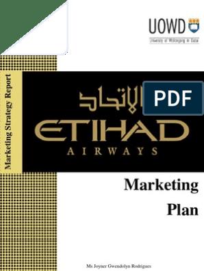 Marketing plan for etihad airways