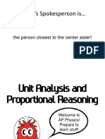 Units and Proportions