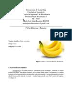 Ficha técnica de banano (Musa AAA)