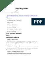 Ley 27683 - Ley de Elecciones Regionales (Al 2018-06-14)