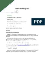 Ley 26864 - Ley de Elecciones Municipales