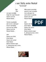 Ser Feliz Este Natal - Letra -  Educacao Musical - Jose Galvao