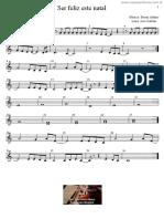 Ser Feliz Este Natal - Partitura para Educação Musical