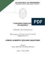 Tesis de Arquitectura sobre aglomerado de Madera