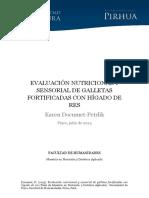 Evaluacion Nutricional y Sensorial de Galletas Fortificadas Con Higado de Res
