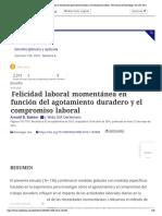 Felicidad laboral momentánea en función del agotamiento duradero y el compromiso laboral_ The Journal of Psychology_ Vol 150, No 6