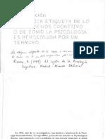 . El Sujeto de La Psicología Cognitiva Editable